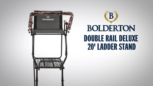 Bolderton Double Rail Deluxe 20' Ladder Tree Stand - image 1 from the video