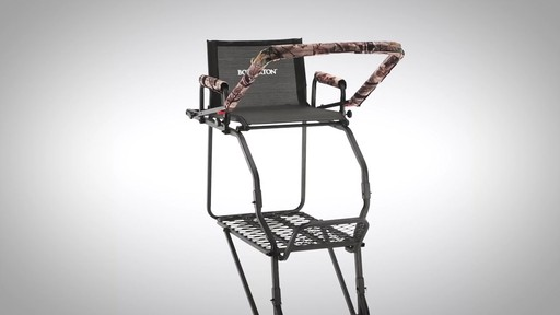 Bolderton Double Rail Deluxe 20' Ladder Tree Stand - image 8 from the video