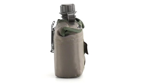 Military Style Canteen with Cover 2 Pack 360 View - image 7 from the video