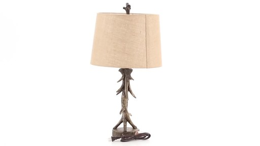 CASTLECREEK Antler Table Lamp 360 View - image 1 from the video