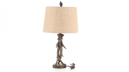 CASTLECREEK Antler Table Lamp 360 View - image 3 from the video