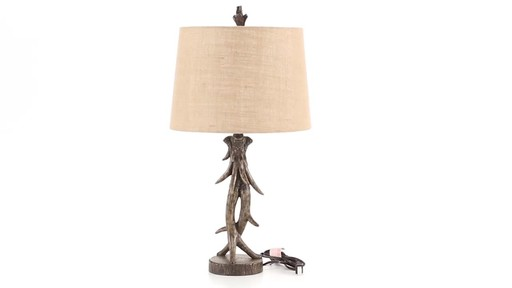 CASTLECREEK Antler Table Lamp 360 View - image 4 from the video