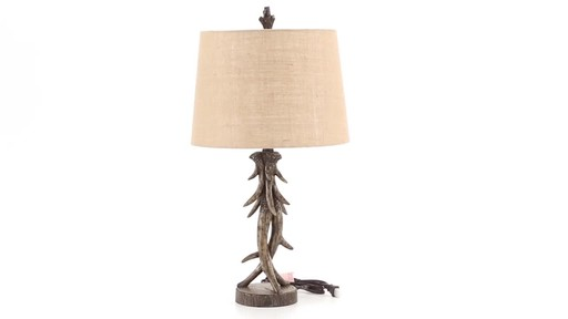 CASTLECREEK Antler Table Lamp 360 View - image 5 from the video