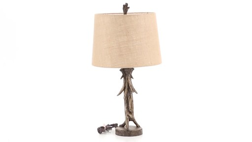 CASTLECREEK Antler Table Lamp 360 View - image 8 from the video