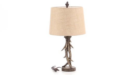 CASTLECREEK Antler Table Lamp 360 View - image 9 from the video