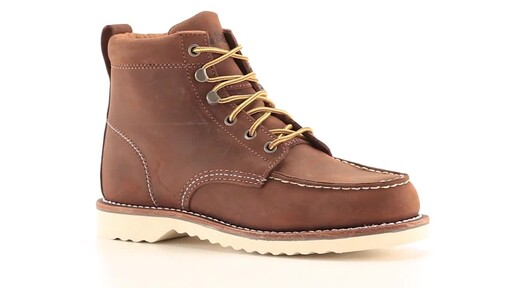 Guide Gear Men's Brutus Wedge Work Boots 360 View - image 2 from the video