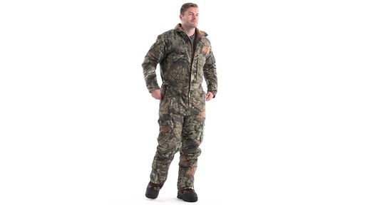 Guide Gear Men's Insulated Silent Adrenaline Hunting Coveralls 360 View - image 2 from the video