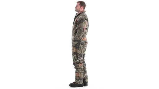 Guide Gear Men's Insulated Silent Adrenaline Hunting Coveralls 360 View - image 7 from the video