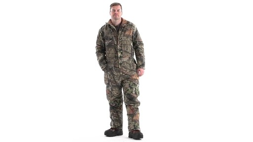 Guide Gear Men's Insulated Silent Adrenaline Hunting Coveralls 360 View - image 9 from the video
