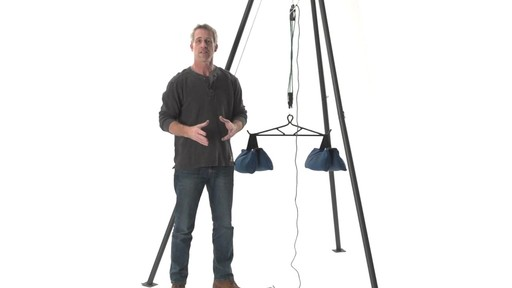 Guide Gear Deluxe Deer Hoist Gambrel Swivel Hitch Lift System - image 1 from the video