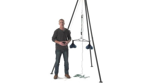 Guide Gear Deluxe Deer Hoist Gambrel Swivel Hitch Lift System - image 10 from the video