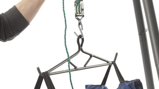 Guide Gear Deluxe Deer Hoist Gambrel Swivel Hitch Lift System - image 9 from the video