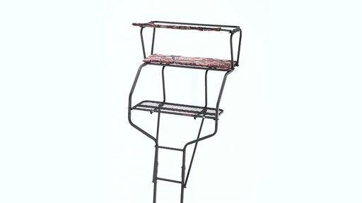 Guide Gear 18' Deluxe 2-Man Ladder Tree Stand 360 View - image 10 from the video