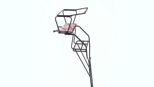 Guide Gear 18' Deluxe 2-Man Ladder Tree Stand 360 View - image 3 from the video