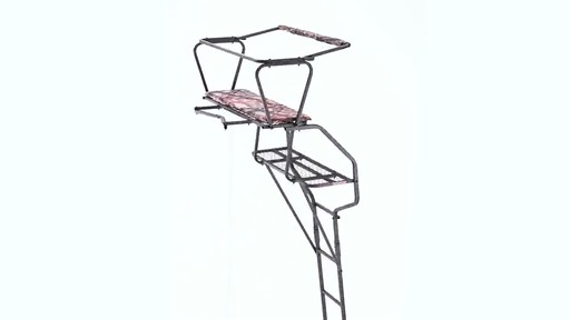 Guide Gear 18' Deluxe 2-Man Ladder Tree Stand 360 View - image 4 from the video