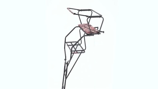 Guide Gear 18' Deluxe 2-Man Ladder Tree Stand 360 View - image 9 from the video