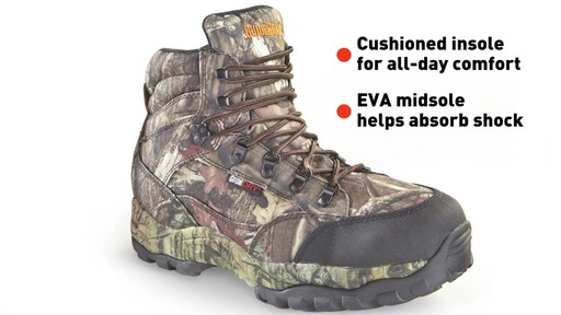 Guide Gear Guidelight II Men's Hunting Boots 400 Gram Thinsulate Mossy Oak Camo - image 8 from the video