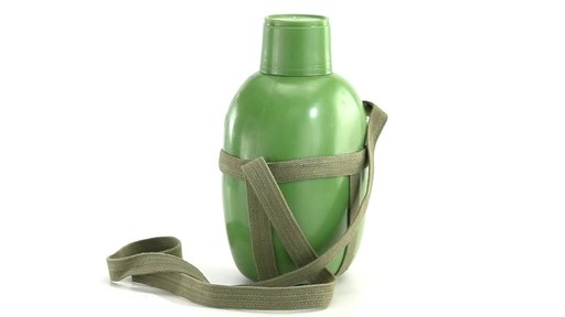 Chinese Military Surplus PLA Canteen Flask 360 View - image 10 from the video