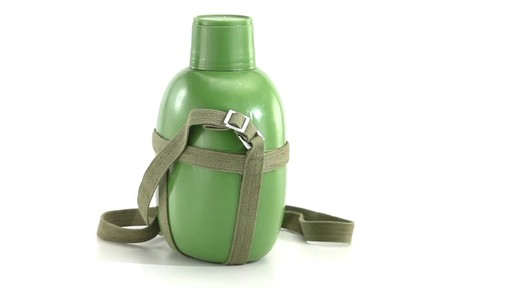 Chinese Military Surplus PLA Canteen Flask 360 View - image 6 from the video