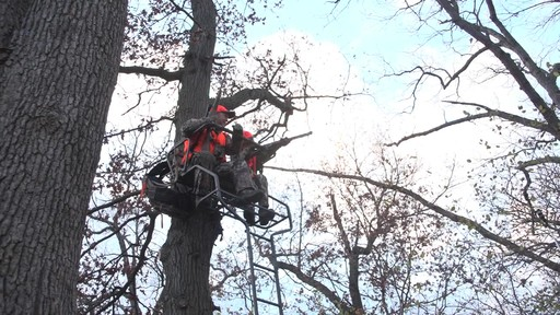 Guide Gear 18' Deluxe 2-man Ladder Tree Stand - image 8 from the video