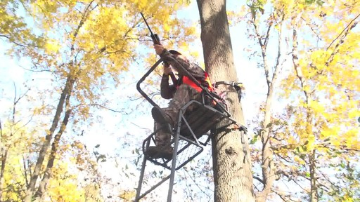Guide Gear 16' Deluxe Ladder Tree Stand - image 7 from the video