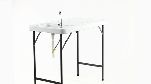 Guide Gear Folding Game Cleaning Table with Sink-Faucet 360 View - image 1 from the video