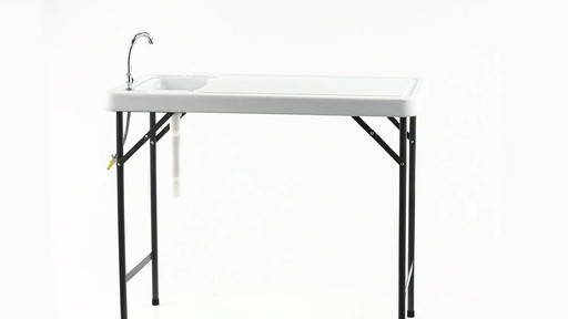 Guide Gear Folding Game Cleaning Table with Sink-Faucet 360 View - image 10 from the video