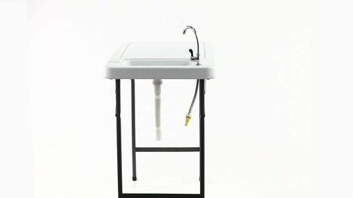 Guide Gear Folding Game Cleaning Table with Sink-Faucet 360 View - image 2 from the video