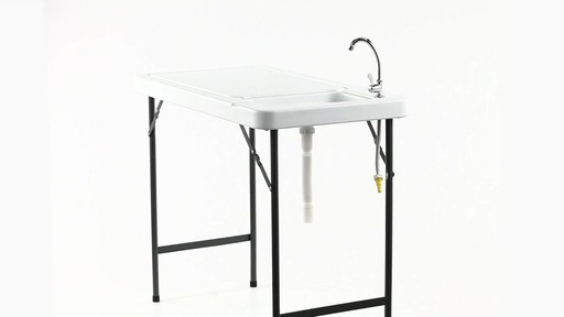 Guide Gear Folding Game Cleaning Table with Sink-Faucet 360 View - image 3 from the video