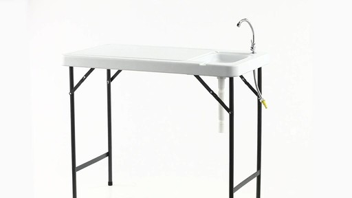 Guide Gear Folding Game Cleaning Table with Sink-Faucet 360 View - image 4 from the video