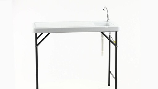 Guide Gear Folding Game Cleaning Table with Sink-Faucet 360 View - image 5 from the video