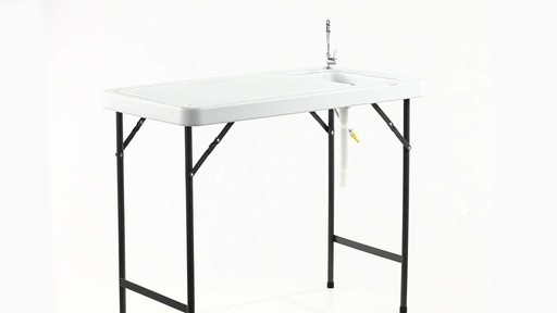 Guide Gear Folding Game Cleaning Table with Sink-Faucet 360 View - image 6 from the video