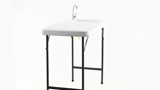 Guide Gear Folding Game Cleaning Table with Sink-Faucet 360 View - image 7 from the video