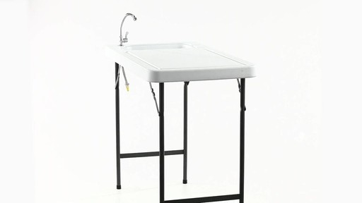 Guide Gear Folding Game Cleaning Table with Sink-Faucet 360 View - image 8 from the video