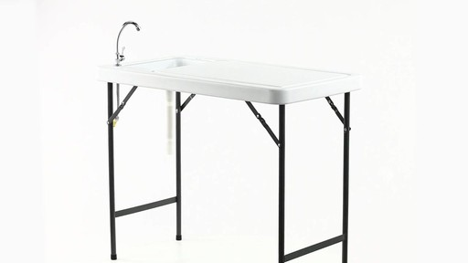 Guide Gear Folding Game Cleaning Table with Sink-Faucet 360 View - image 9 from the video