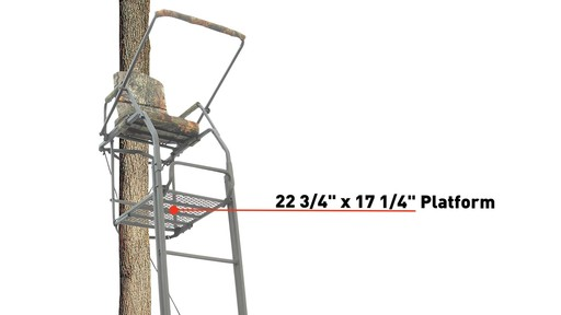 Guide Gear 21' Premium Ladder Tree Stand - image 6 from the video