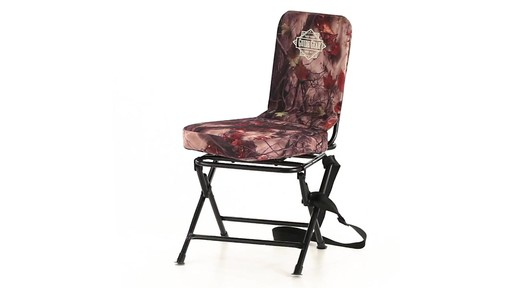 Guide Gear Camo Swivel Hunting Chair 360 View - image 2 from the video