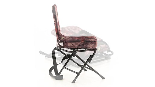Guide Gear Camo Swivel Hunting Chair 360 View - image 6 from the video