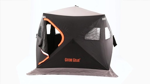 Guide Gear 6' x 6' Insulated Ice Fishing Shelter 360 View - image 10 from the video