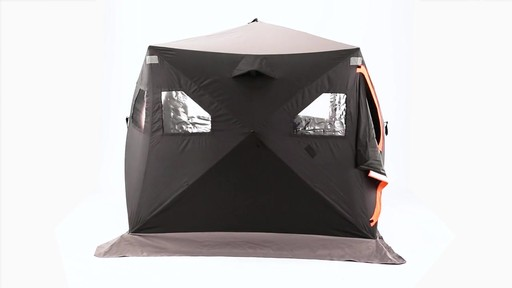 Guide Gear 6' x 6' Insulated Ice Fishing Shelter 360 View - image 2 from the video