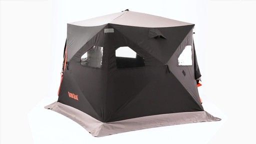 Guide Gear 6' x 6' Insulated Ice Fishing Shelter 360 View - image 3 from the video