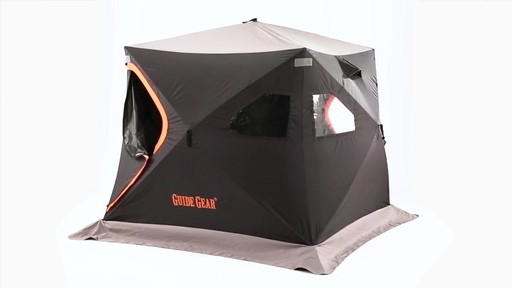 Guide Gear 6' x 6' Insulated Ice Fishing Shelter 360 View - image 4 from the video