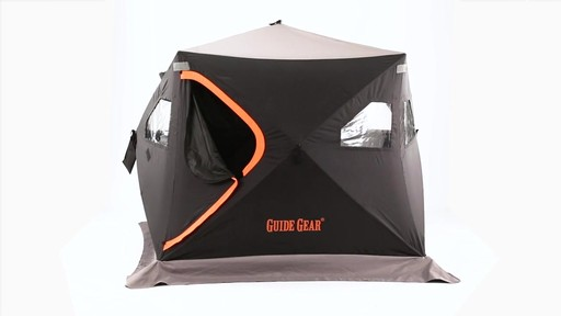 Guide Gear 6' x 6' Insulated Ice Fishing Shelter 360 View - image 5 from the video