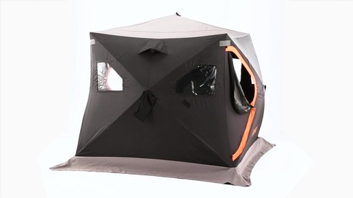 Guide Gear 6' x 6' Insulated Ice Fishing Shelter 360 View - image 7 from the video