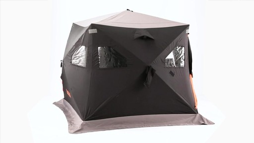 Guide Gear 6' x 6' Insulated Ice Fishing Shelter 360 View - image 8 from the video