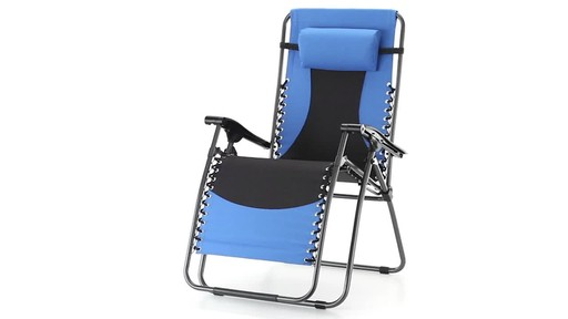 Guide Gear Oversized 500 lb. Zero Gravity Chair Blue 360 View - image 1 from the video