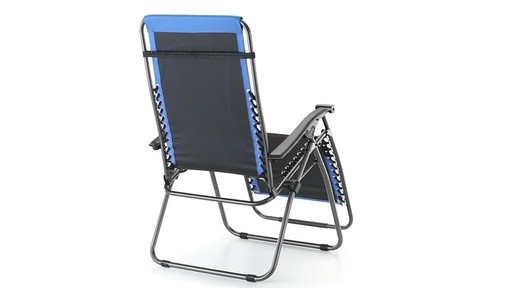 Guide Gear Oversized 500 lb. Zero Gravity Chair Blue 360 View - image 5 from the video