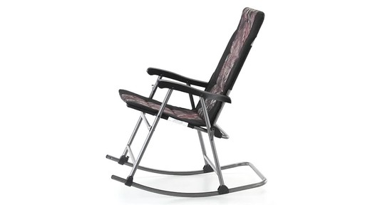 Guide Gear Oversized Rocking Camp Chair 500 lb. Capacity Mossy Oak Break Up Country 360 View - image 2 from the video