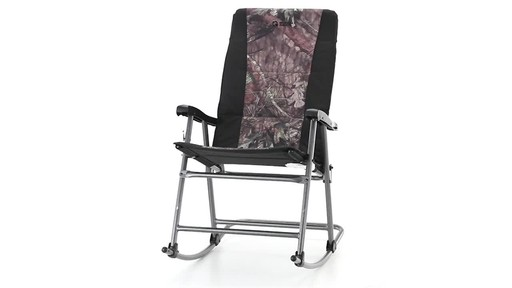 Guide Gear Oversized Rocking Camp Chair 500 lb. Capacity Mossy Oak Break Up Country 360 View - image 4 from the video