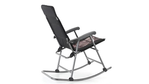 Guide Gear Oversized Rocking Camp Chair 500 lb. Capacity Mossy Oak Break Up Country 360 View - image 8 from the video